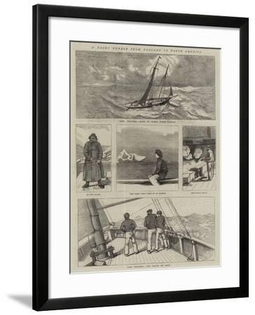 A Yacht Voyage from England to North America--Framed Giclee Print