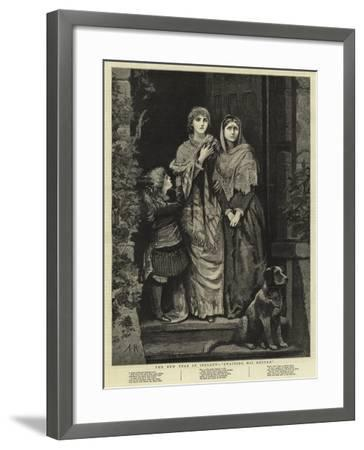The New Year in Ireland, Awaiting His Return--Framed Giclee Print
