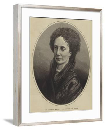 Her Imperial Majesty the Empress of Russia--Framed Giclee Print