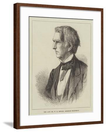 The Late Mr W H Seward, American Statesman--Framed Giclee Print