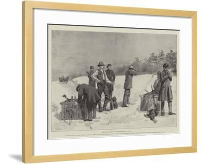 Shooting Turkeys in the Backwoods of Canada--Framed Giclee Print