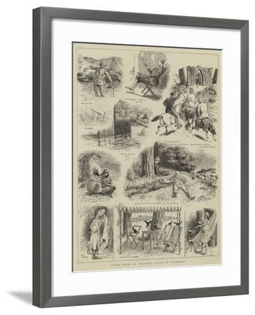 Notes from an Officer's Diary in Cashmere--Framed Giclee Print