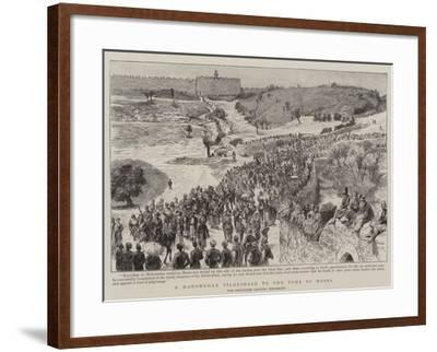 A Mahomedan Pilgrimage to the Tomb of Moses--Framed Giclee Print