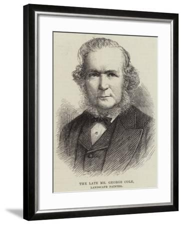 The Late Mr George Cole, Landscape Painter--Framed Giclee Print