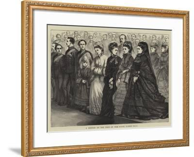 A Sketch on the Dais of the Royal Albert Hall--Framed Giclee Print