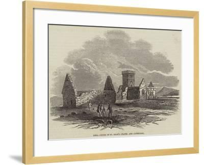 Iona, Ruins of St Oran's Chapel and Cathedral--Framed Giclee Print