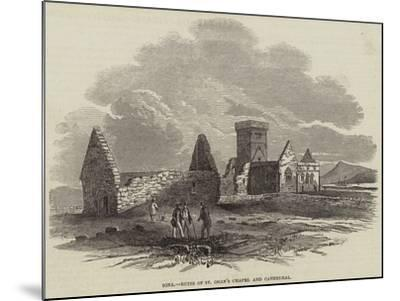 Iona, Ruins of St Oran's Chapel and Cathedral--Mounted Giclee Print