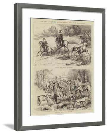 In the Hunting Field, Home for the Holidays--Framed Giclee Print