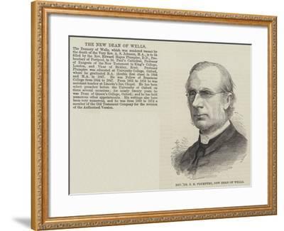 Reverend Dr E H Plumptre, New Dean of Wells--Framed Giclee Print