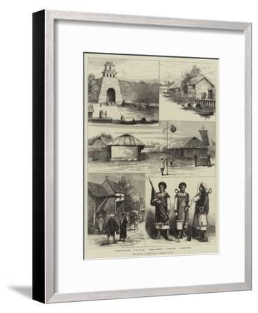 The French in Cochin China, Sketches of Hue--Framed Giclee Print