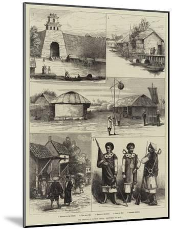 The French in Cochin China, Sketches of Hue--Mounted Giclee Print