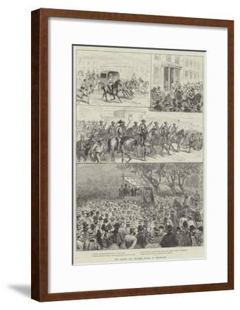 The Labour and Shipping Strike at Melbourne--Framed Giclee Print