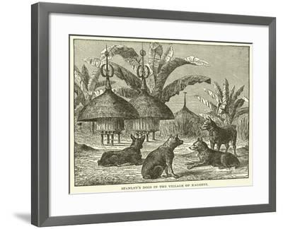 Stanley's Dogs in the Village of Kagehyi--Framed Giclee Print