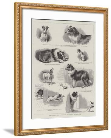 The Story of a Clever Terrier's Stratagem--Framed Giclee Print