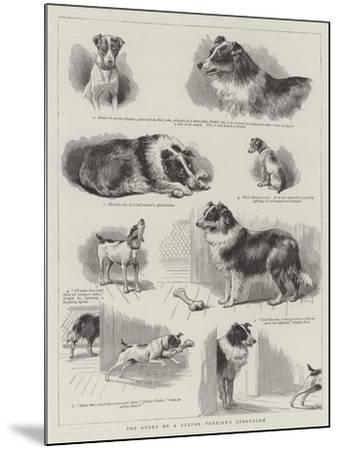 The Story of a Clever Terrier's Stratagem--Mounted Giclee Print