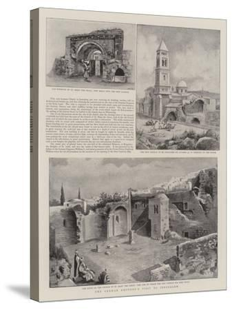 The German Emperor's Visit to Jerusalem--Stretched Canvas Print