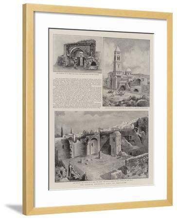 The German Emperor's Visit to Jerusalem--Framed Giclee Print