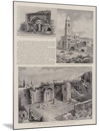 The German Emperor's Visit to Jerusalem--Mounted Giclee Print