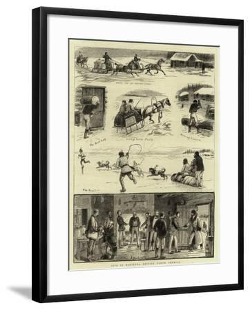 Life in Manitoba, British North America--Framed Giclee Print