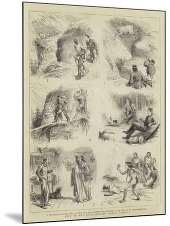 Life in Manitoba, British North America--Mounted Giclee Print