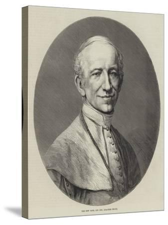 The New Pope, Leo XIII (Joachim Pecci)--Stretched Canvas Print