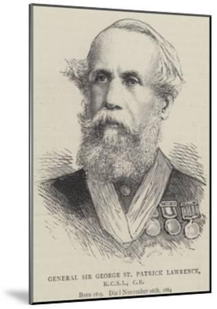 General Sir George St Patrick Lawrence--Mounted Giclee Print