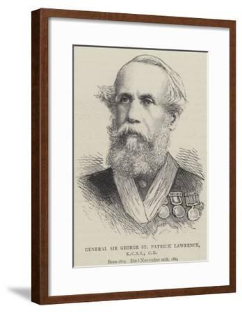 General Sir George St Patrick Lawrence--Framed Giclee Print