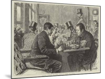 After Lunch in the City, a Game of Chess--Mounted Giclee Print