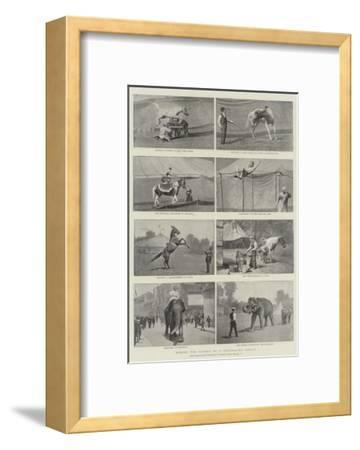 Behind the Scenes of a Travelling Circus--Framed Giclee Print