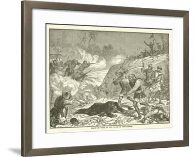 Death of Ward at the Hands of the Rebels--Framed Giclee Print