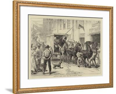 Leaving Cape Town for the Diamond Fields--Framed Giclee Print