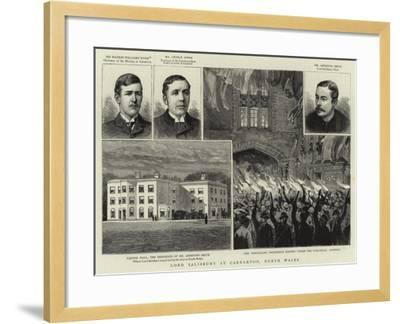Lord Salisbury at Carnarvon, North Wales--Framed Giclee Print