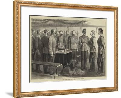 Military Sketches, Christmas in Barracks--Framed Giclee Print