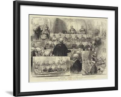 The Irish Land League Trials in Dublin--Framed Giclee Print