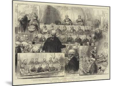 The Irish Land League Trials in Dublin--Mounted Giclee Print