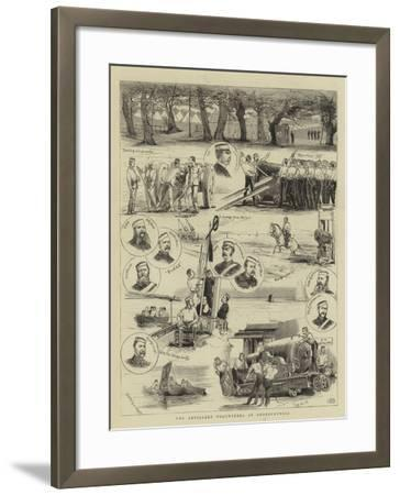 The Artillery Volunteers at Shoeburyness--Framed Giclee Print