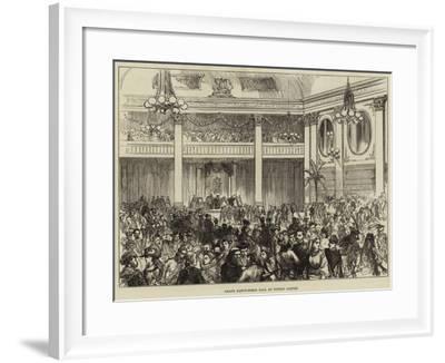 Grand Fancy-Dress Ball at Dublin Castle--Framed Giclee Print