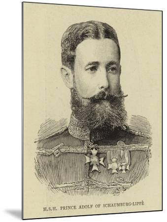 H S H Prince Adolf of Schaumburg-Lippe--Mounted Giclee Print
