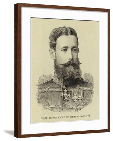 H S H Prince Adolf of Schaumburg-Lippe--Framed Giclee Print