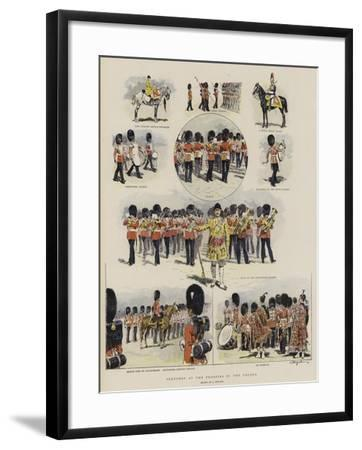 Sketches at the Trooping of the Colour--Framed Giclee Print