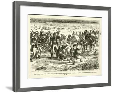 Here I Found Many of the Soldiers Sitting--Framed Giclee Print