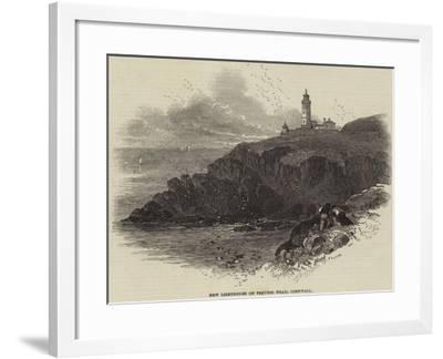 New Lighthouse on Trevose Head, Cornwall--Framed Giclee Print