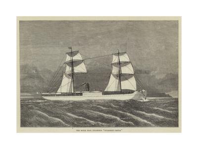 The Royal Mail Steamship Dunrobin Castle--Framed Giclee Print