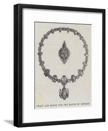 Chain and Badge for the Mayor of Mossley--Framed Giclee Print