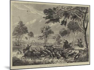 Sketches in Australia, Kangaroo Hunting--Mounted Giclee Print