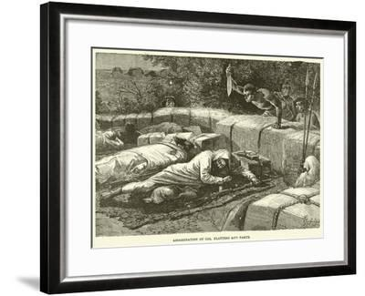 Assassination of Col Flatters and Party--Framed Giclee Print