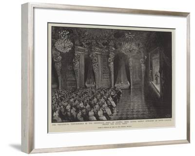 Theatrical Performance in the Riesensaal--Framed Giclee Print