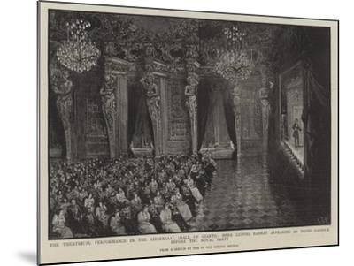 Theatrical Performance in the Riesensaal--Mounted Giclee Print