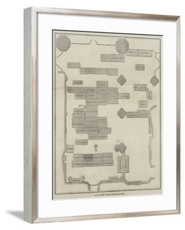 Plan of Poet's Corner, Westminster Abbey--Framed Giclee Print