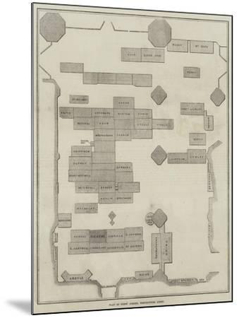 Plan of Poet's Corner, Westminster Abbey--Mounted Giclee Print